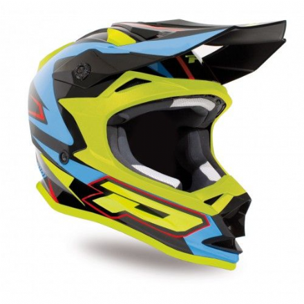 Progrip 3191 ABS Helmet Blue- Fluorescent Yellow